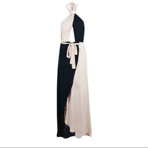 Boohoo Dresses - Boohoo night halter chiffon maxi dress
